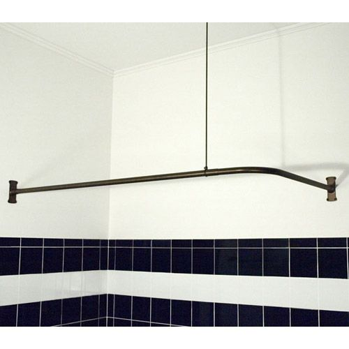 Problem Solvers: 10 Uniquely Shaped Shower Curtain Rods   Great For Family  Closet Dressing Room!
