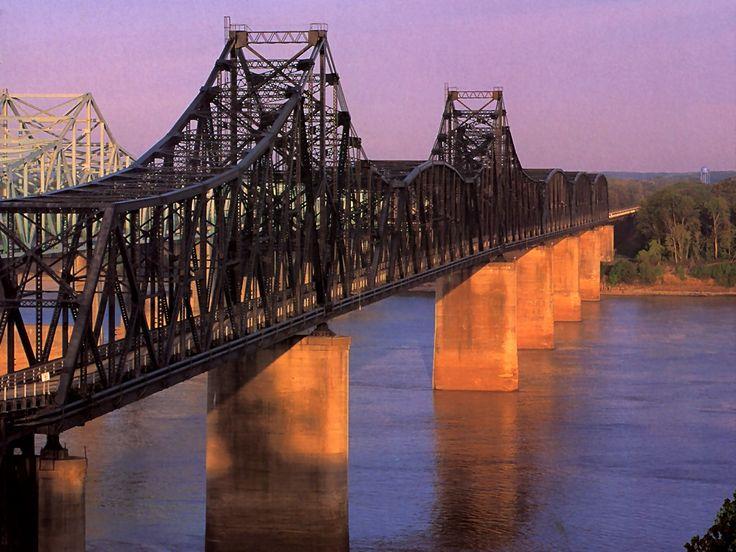 Bridges Bridge Over The Mississippi At Vicksburg