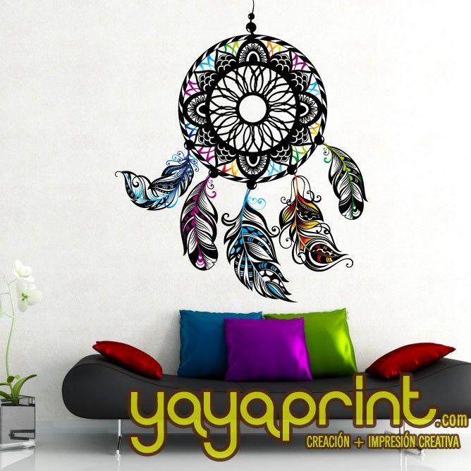 Vinilo yayaprint Atrapa sueños. Dream Catcher wall deco
