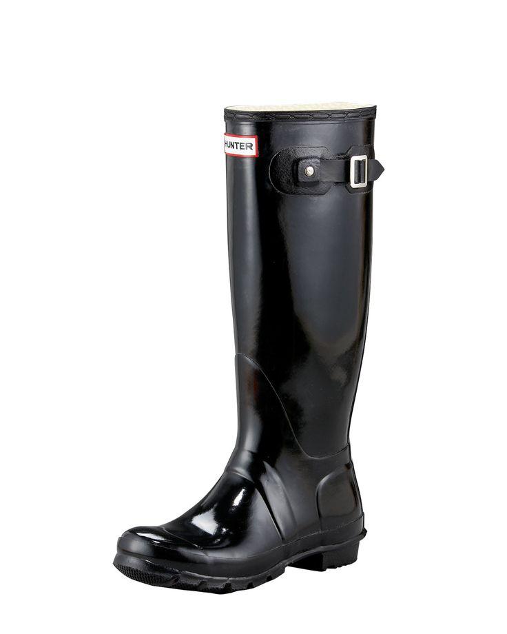 Gloss Welly Boot, Women's, Size: 7B, Beige - Hunter Boot