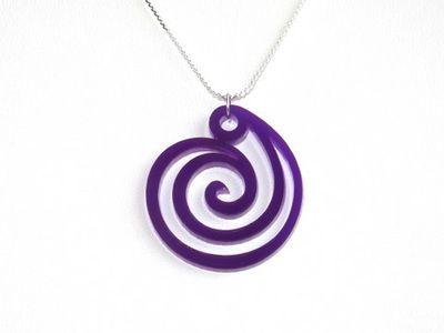 Riipus Spiral violetti, akryyliä