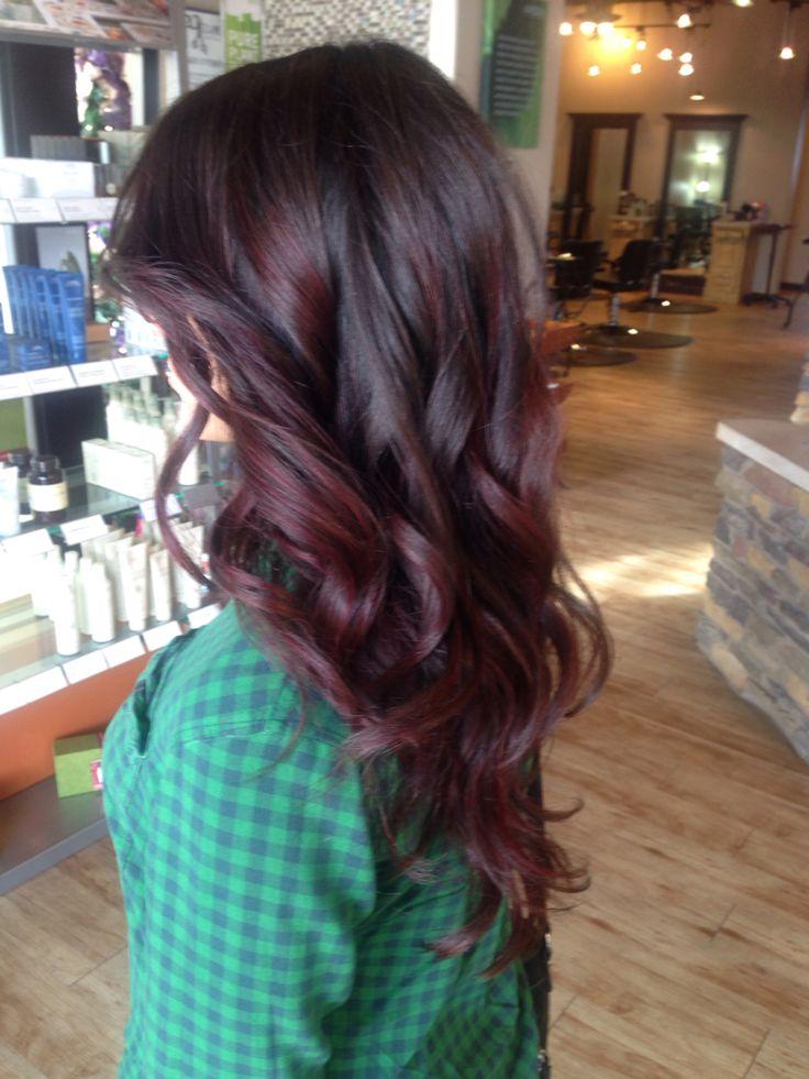 Hair by Emilio : IG _emilio_j Aveda color.  red violet balayage