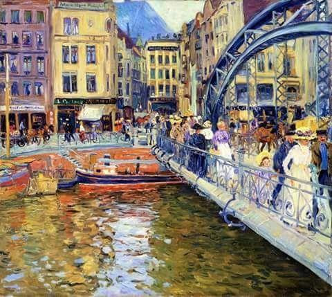 Tweets con contenido multimedia de The History of Color (@HistoryOfColor) | Twitter    Stettin - 1909  Philipp Franck (Germán) 1860-1944  Pintura - óleo sobre lienzo |  Colección privada