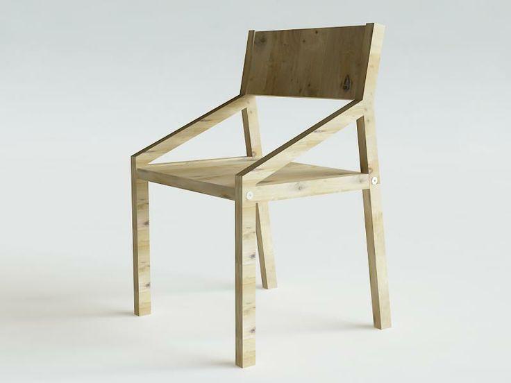 BASE3 fotel dębowy z podłokietnikami wybór kolorów w KOSICKA design na DaWanda.com