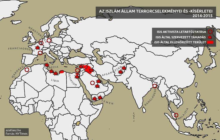 isis iszlám állam támadásai a világban