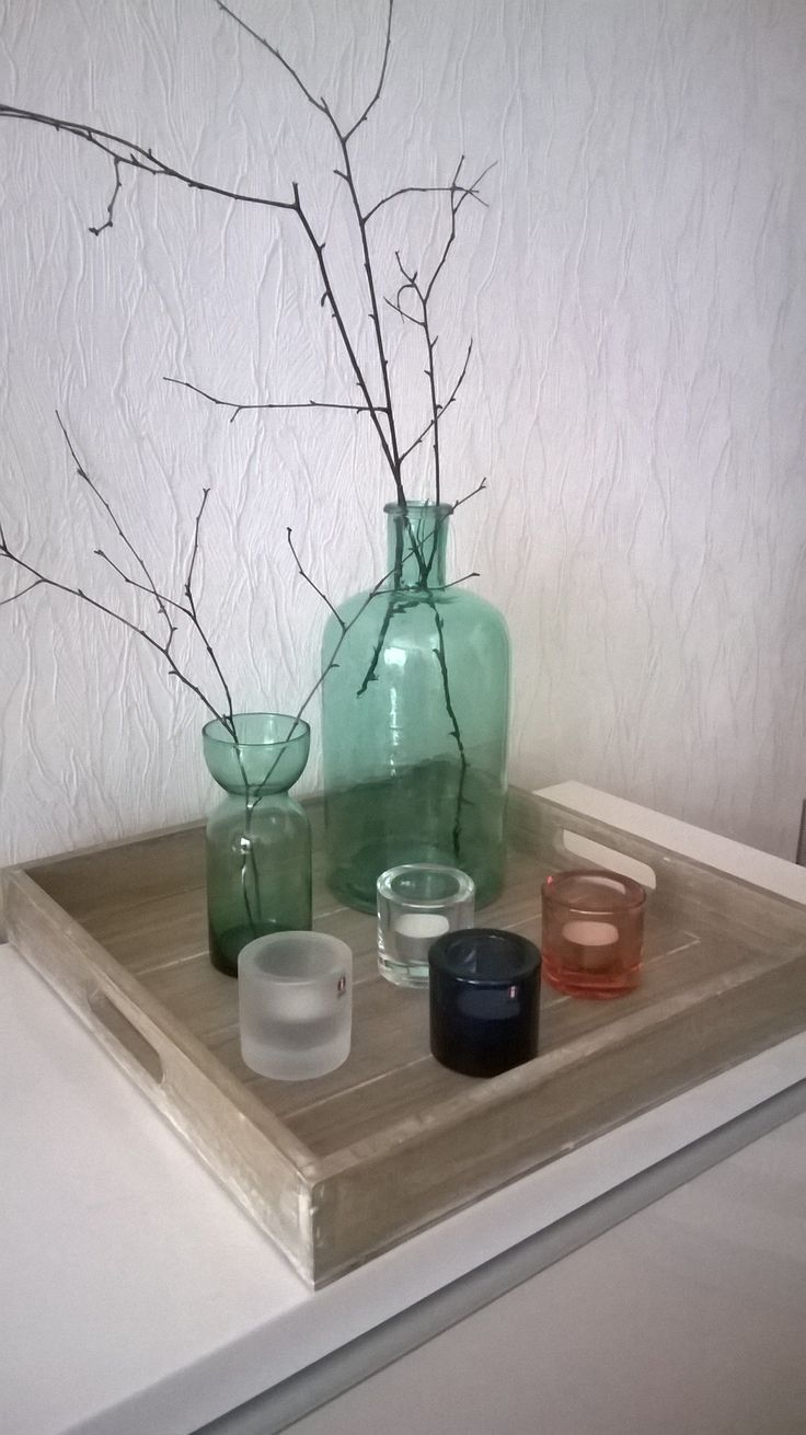 Still life- branches and Kivi from Iittala