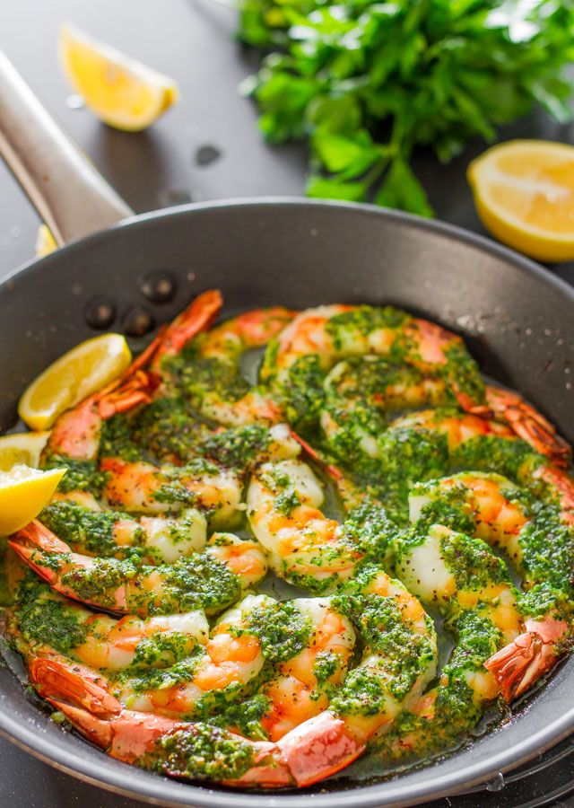 Run to the store and grab some jumbo shrimp for this #recipe. Garlic and Parsley Butter Shrimp is slathered in a #yummy sauce and baked to perfection!