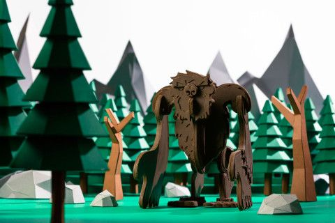 REVERBERE , papercraft, paper forest