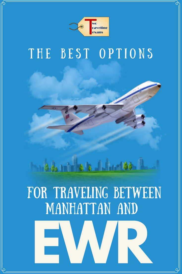 Find out the pros and cons of different options for traveling between Manhattan and Newark Airport (EWR)   Newark Airport to Manhattan. via @2travelingtxns #manhattantonewark #ewr #gettingtoewrairport #traveltips #nyc #newyorkcity #nyctoewr #howtogettoewr #publictransportationtoewr #newarkairport