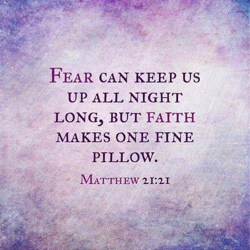 Faith in one fine pillow