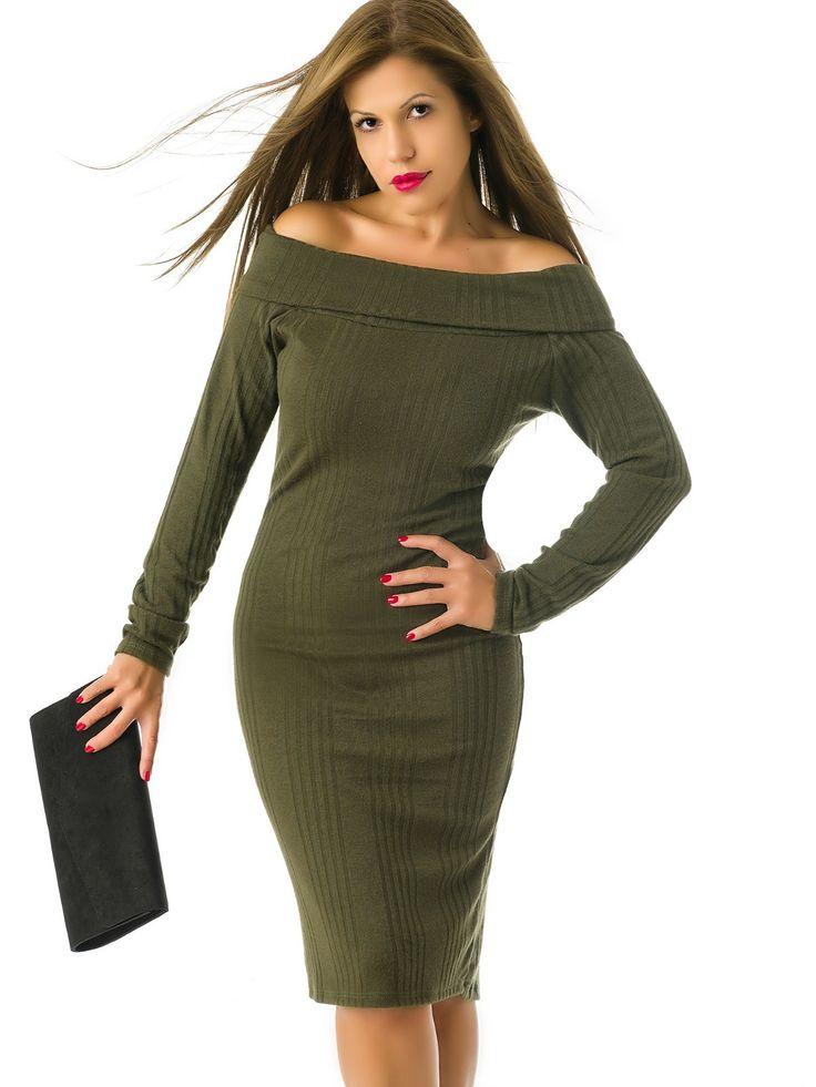 Vestido de Punto Verde Militar MS1741