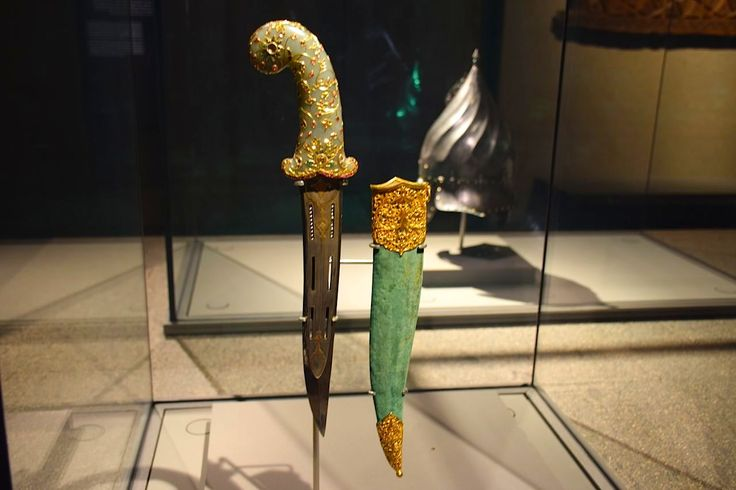 Elements of war and conquest are found abundantly throughout the Museum of Islamic Art, such as this decorative dagger