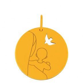 Médaille de baptême Vierge de l'Espérance par J F Kieffer
