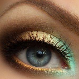 Inverse Gradient: Teal, Gold & Brown Eyes Makeup Tutorial - Makeup Geek