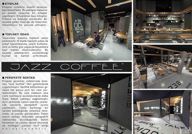 Jazz Coffee iç Tasarımı ve Marka Tasarımı Midyat TZN mimarlık, interior, cafe, design, architecture, 3d, render, modelleme, Batman