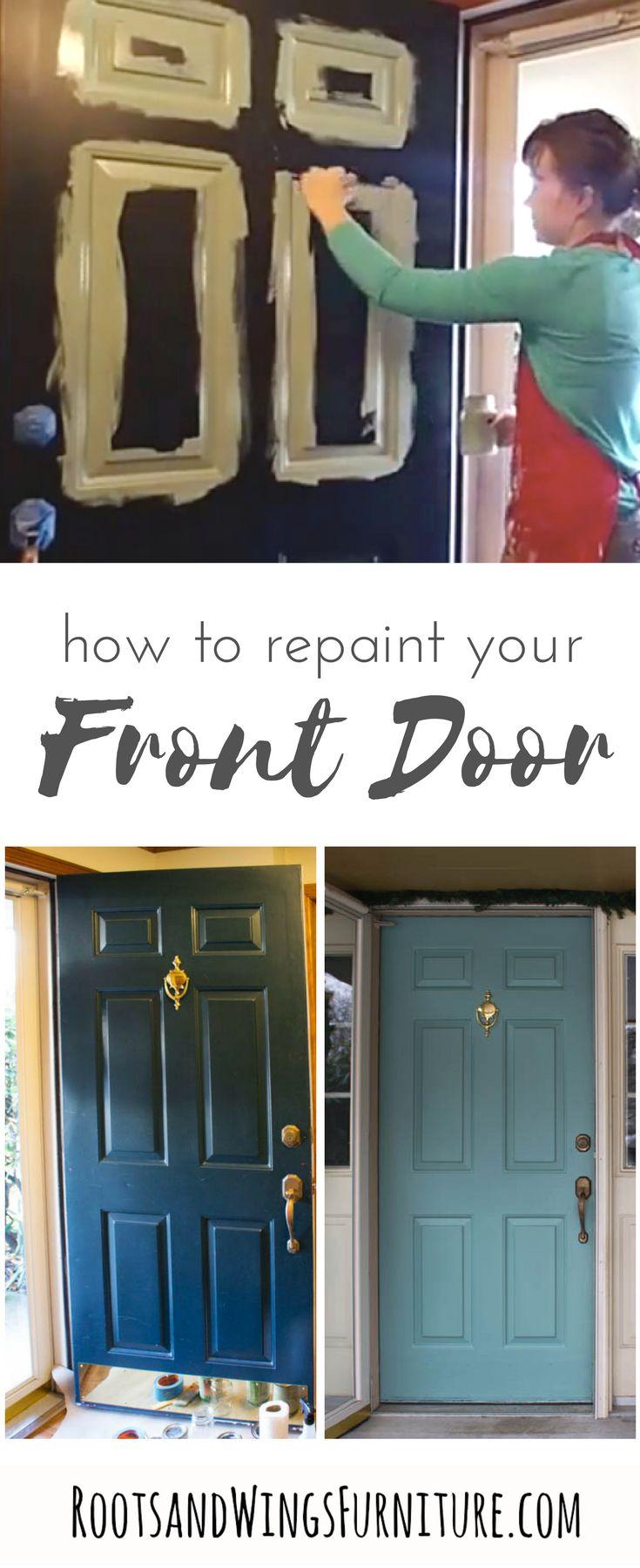 Quick and Easy Front Door Makeover Front door makeover