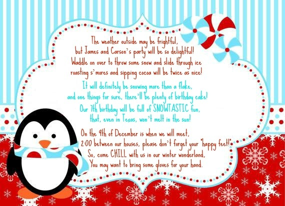 winter wonderland invitation wording  party planning, party invitations