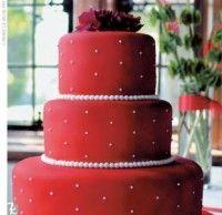 Red Fondant Cake
