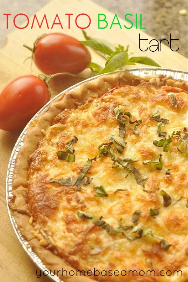 Tomato Basil Tart-Absolutely delicious! I used pesto rather than basil leaves. Yum yum yum!