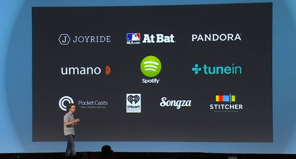 Las aplicaciones para Android Auto se centrarán en la música para reproducir desde esta plataforma y servicios de mensajería instantánea.