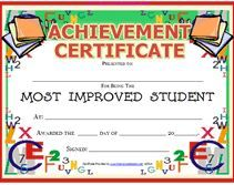 free printable achievement certificate