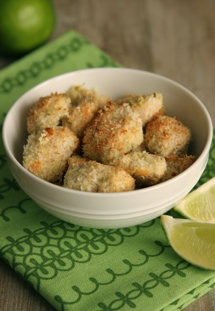 Coconut Lime Chicken Bites - healthy substitute for chicken nuggets