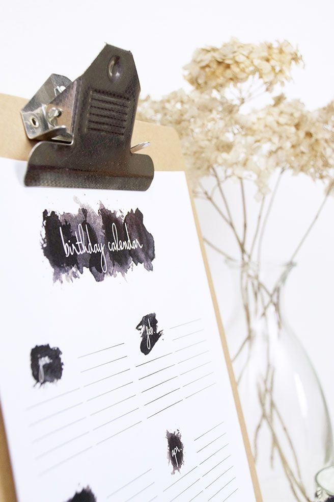 -DIY- Kostenloser Geburtstagskalender – free printable http://barfussimnovember.com