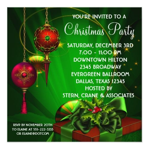 1462 best 2017 christmas party invitations images on pinterest red green christmas holiday party card m4hsunfo