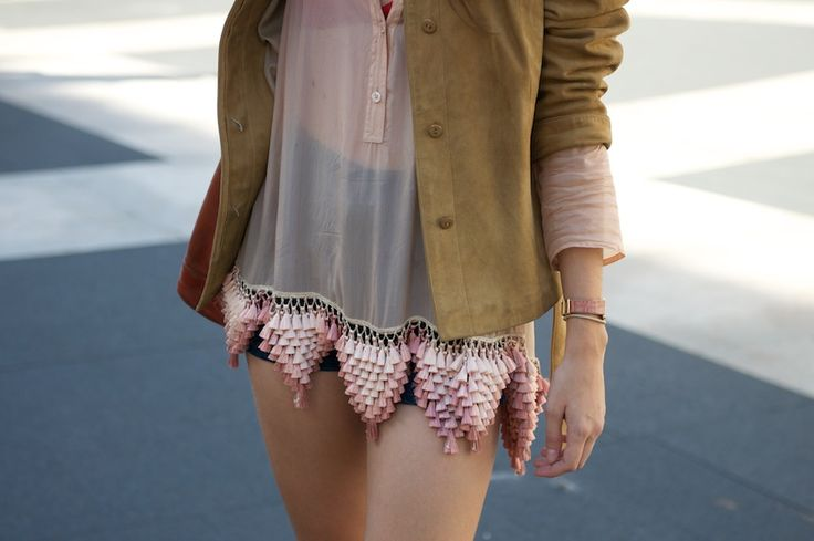 beautiful triangles: Clothing Altered, Inspiration, Diy Fashion, Beautiful Triangles, Street Style, Tassels, Chiffon, Language, Boho
