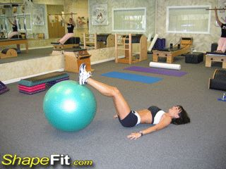 Exercise Ball Butt Raises