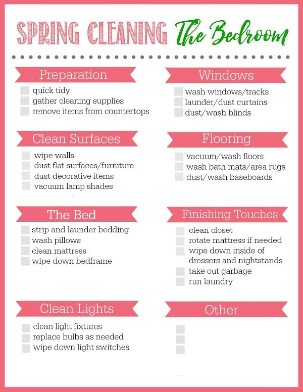 bedroom spring cleaning checklist - How To Clean Bedroom Walls