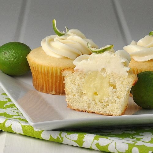 Key Lime Cupcakes - Vanilla Cupcakes, Key Lime Curd, Cream Cheese Icing