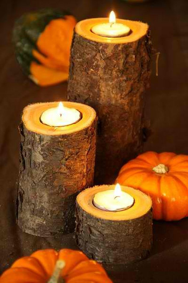Easy Rustic Fall Candle Holder   Timeless Rustic Decor For Fall