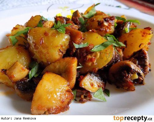 Pečené brambory se žampiony
