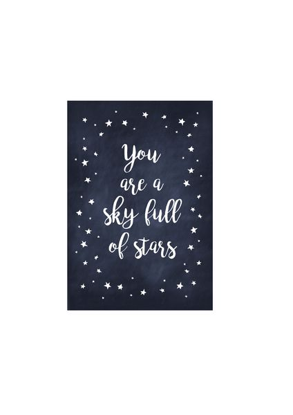 """Drucke & Plakate - Kunstdruck / Kids Print """"Sky full of stars""""   - ein Designerstück von TypicalMe bei DaWanda"""