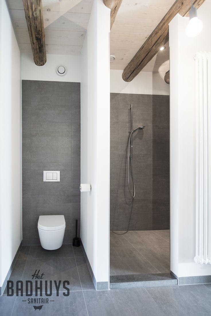 Badkamermeubel plank - Eigentijdse badkamer grijs ...