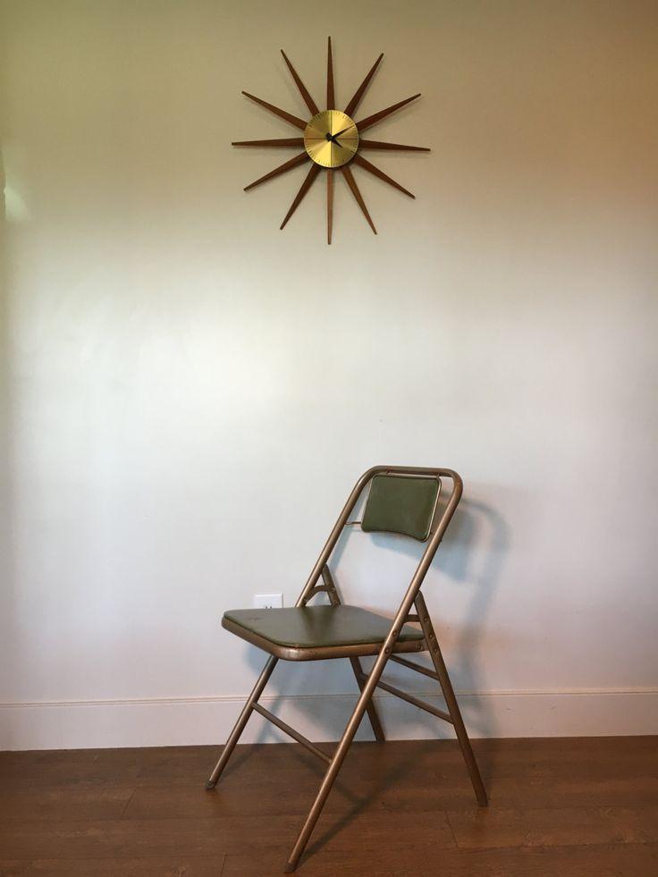 Vintage Folding Chair Mid Century Modern By Samsonite