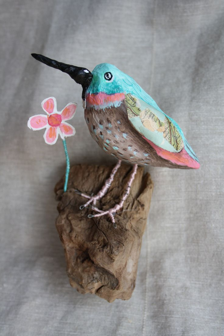 The Cake Bird by Mysta. Mixed media with cake crumbs! www.mystasmirror.com