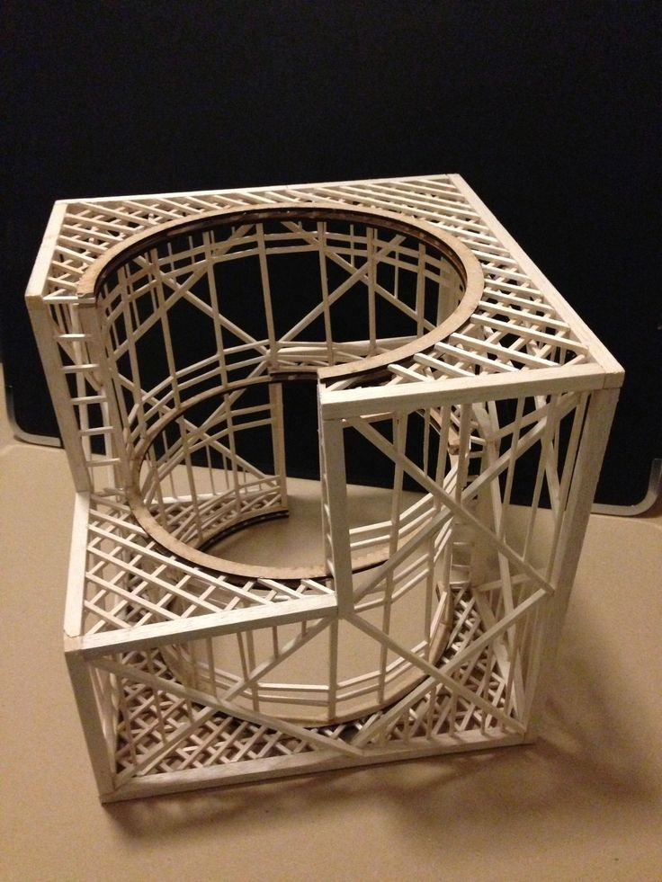 Structural Model  #conceptualarchitecturalmodels Pinned by www.modlar.com