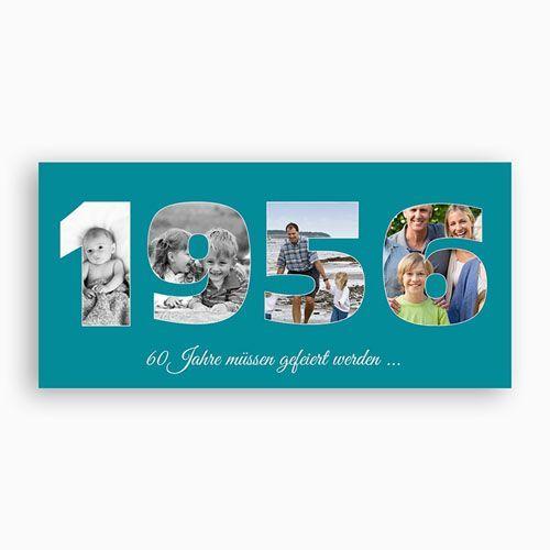 Runde Geburtstage - Fotozahl - 60 Jahre 44170