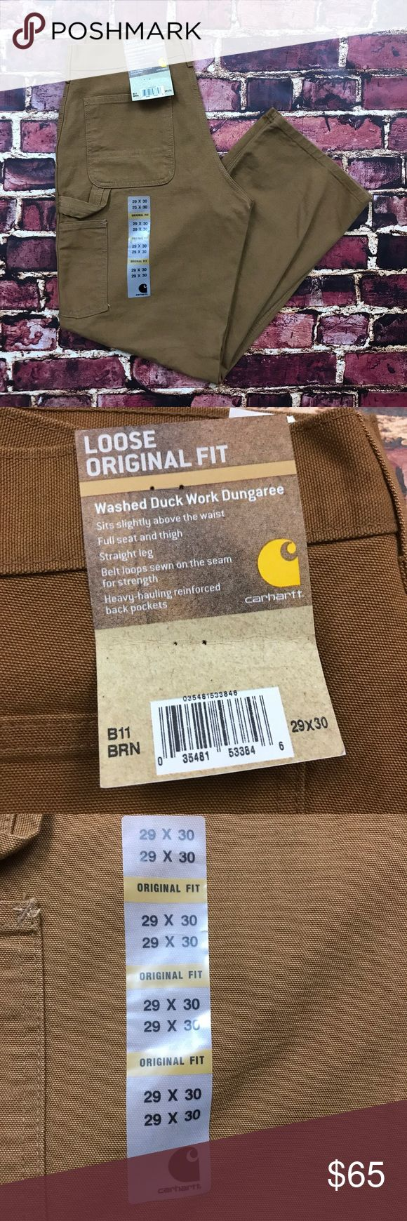 NWT Carhartt Washed Duck Work Dungaree Pants Mens Brand New with Tags! Zero Flaws. Carhartt Pants Cargo