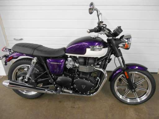 Check out this 2013 Triumph Bonneville - Imperial Purple / Fusion White listing in Dubuque, IA 52003 on Cycletrader.com. It is a Standard Motorcycle and is for sale at $6999.