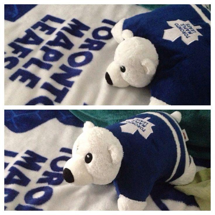 Toronto Maple Leaf Carlton pillow pet bear!