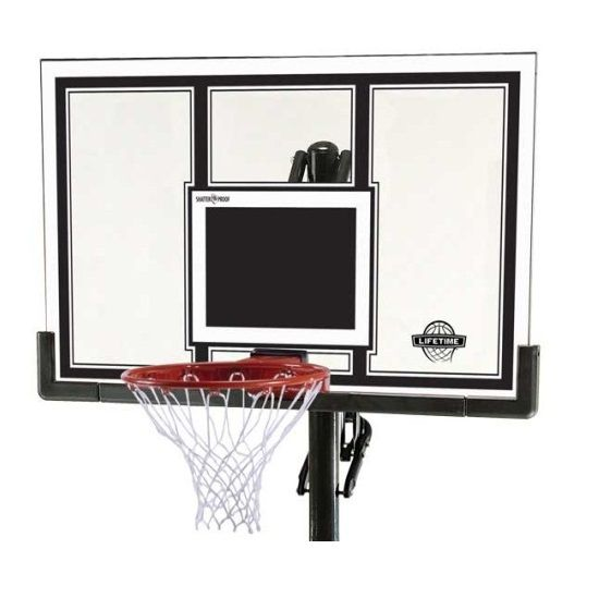 Lifetime Basketball System - 71525 Competition In-Ground Pole System - 54-inch Shatter Guard Backboard