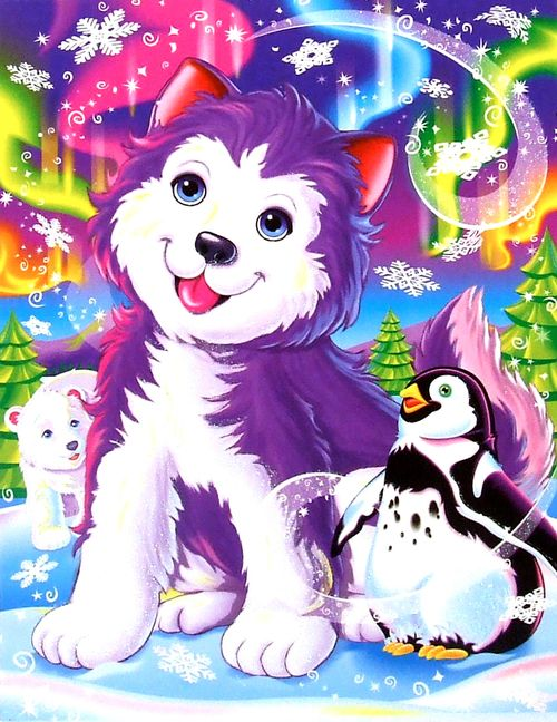 Lisa Frank Coloring Pages Penguin