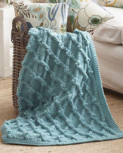 Bobble Lattice Blanket Pattern By Bernat Design Studio