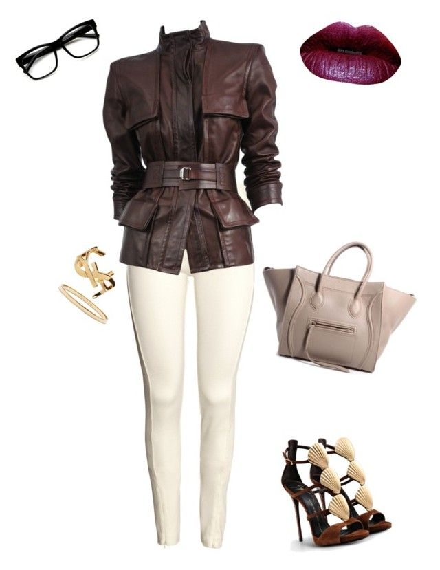 Untitled #132 by tamara-dhaiti on Polyvore featuring polyvore, fashion, style, Tom Ford, H&M, Giuseppe Zanotti, Yves Saint Laurent, Kate Spade and Retrò
