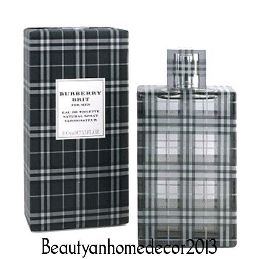 Burberry Brit Cologne by Burberry 3.3 oz (100 ml.) EDT Spray for Men New In Box #Burberry