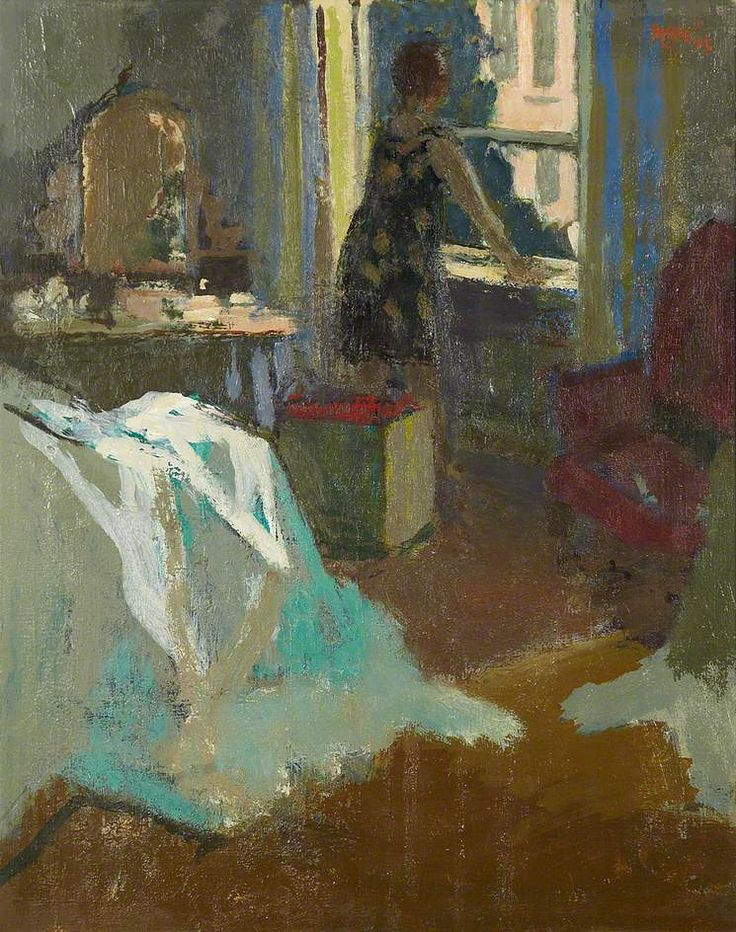 """urgetocreate: """"Charles James McCall, Woman at the Window, 1965 """""""