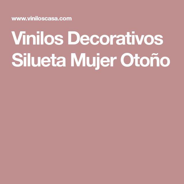 Vinilos Decorativos Silueta Mujer Otoño
